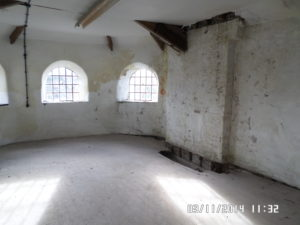 Interior of the workhouse before renovation